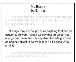 Apa citation within a paragraph