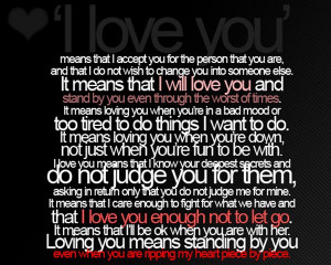 Love You Sad Love Quote