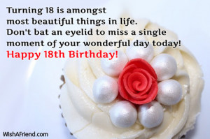 Turning 18 is amongst most beautiful things in life. Don't bat an ...