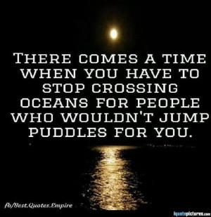 Stop crossing the ocean