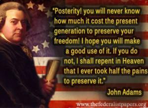 John Adams, Letter to Abigail Adams (27 April 1777)