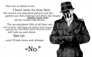 Watchmen quotes Rorschach grayscale monochrome wallpaper background