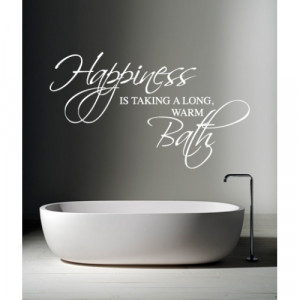 Happiness is Taking a Bath