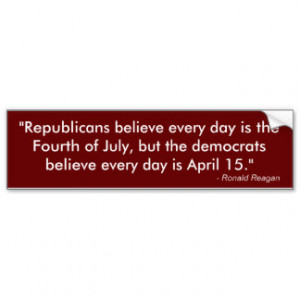 Ronald Reagan anti-Tax Quote Bumper Sticker