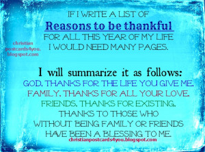 ... christian quotes for last year and new year, thanksgiving, Thanks to
