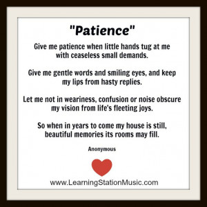... It's a reminder of the importance of patience. #parenting #patience