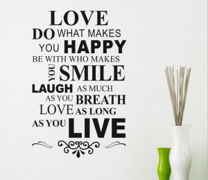 ... -Makes-You-Happy-Love-Quote-Wall-Decor-Decal-Home-Wall-Decoration.jpg