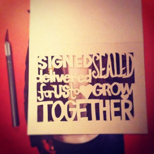 ... diy #cutout #greetingcard #love #common #quotes (Taken with Instagram