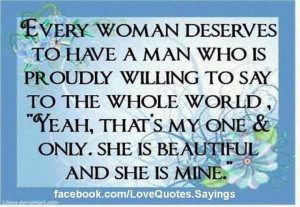 What every woman deserves...