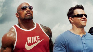 Dwayne Johnson as Paul Doyle, Mark Wahlberg as Daniel Lugo in Pain ...