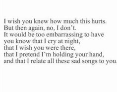 wish you knew~ |Quote| |I miss you| |Followback| |Breakup quotes ...