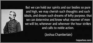More Joshua Chamberlain Quotes