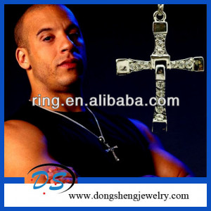Fast Five 5 Necklace Dominic Toretto Cross Pndant