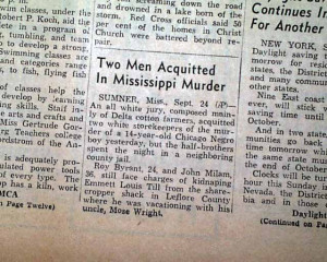 Emmett Till murder trial Not Guilty....