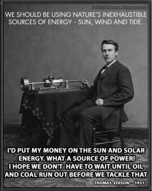 Thomas Edison Solar Energy Quote Meme