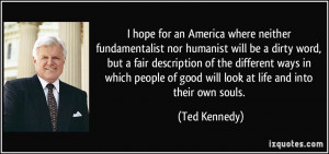 an America where neither fundamentalist nor humanist will be a dirty ...