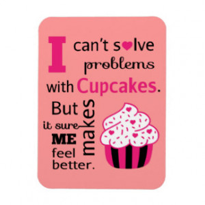 Cute Cupcake quote, Happiness Vinyl Magnets