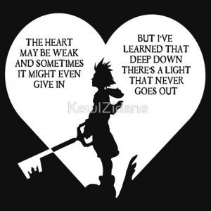 KewlZidane › Portfolio › Kingdom hearts sora quote