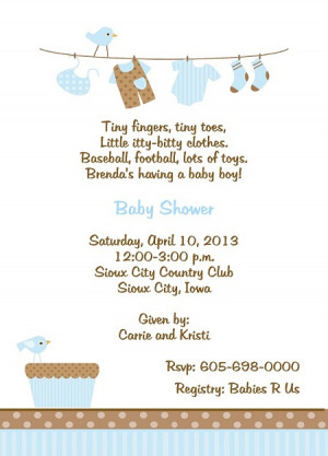 Invitations For Baby Boy