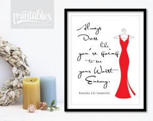 Kimora Lee Simmons Quote Printable Poster - Cherry Handwritten ...