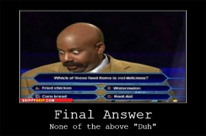 funny image of a black guy on a game show answering this question ...