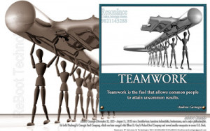 Teamwork is the fuel that allows common people to attain uncommon ...
