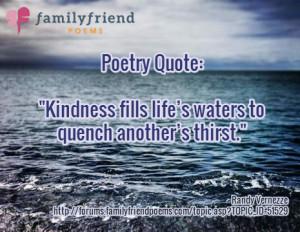 Kindness by Randy Vernezze