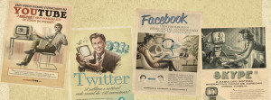 Youtube Twitter Fb Skype Vintage Facebook Cover