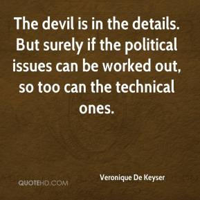 The devil is in the details. But surely if the political issues can be ...