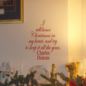 Charles Dickens Christmas Quote vinyl wall decal Christmas Tree and ...