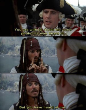 Captain Jack Sparrow pirates of the caribbean