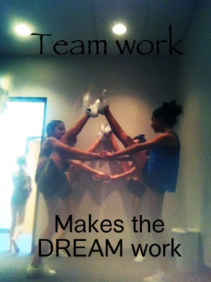 Team work , cheer , cheerleading , cheer quotes , dream Quotes Sayings ...
