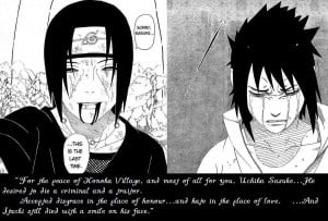 Itachi Quotes To Sasuke Itachi and Sasuke - Last Time