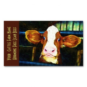 cattle_ranch_veal_funny_cow_business_cards ...