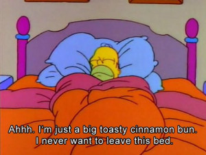bed, cinnamon, homer, simpsons