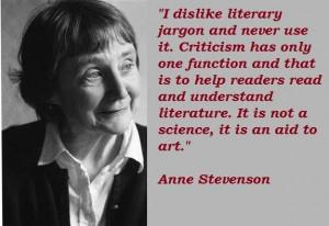 Anne stevenson famous quotes 3