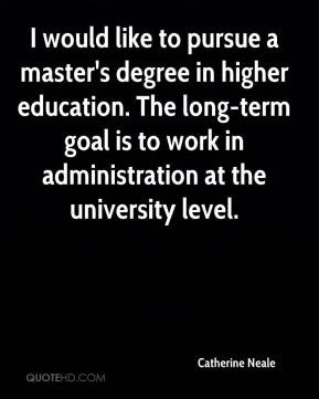 Why pursue master degree