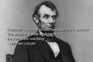 Abraham lincoln quote quotes sayings people character