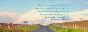 Saint Patrick Quote Facebook Cover