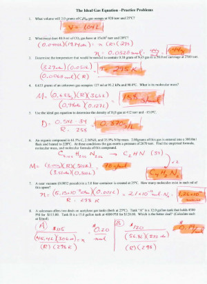 All Worksheets » Gas Laws Worksheets With Answers - Printable ...