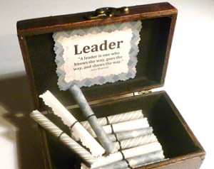 , Inspirational Leadership Quotes in Wood Chest, Unique, Motivational ...
