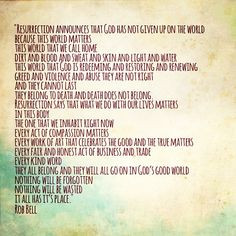 resurrection rob bell more soul food quotes poems rob belle soul ...