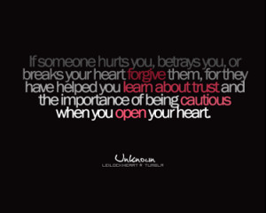 Forgiveness,Trust quotes with pictures Heartbreak quotes with pictures ...