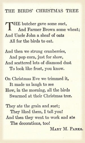Family Tree Quotes Poems The birds' christmas tree