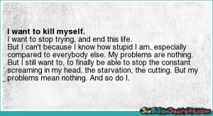 Wanna Kill Myself Quotes