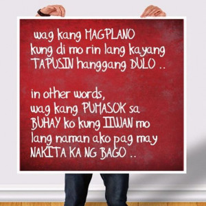 Tagalog Love Quotes for your suitor