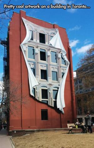 Funny building in Toronto