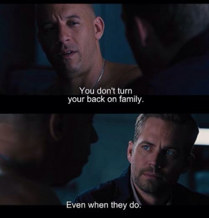 her amnesia :(: Fast And Furious Movie Quotes, Fast Families, Quotes ...
