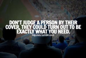 Dont Judge A Person