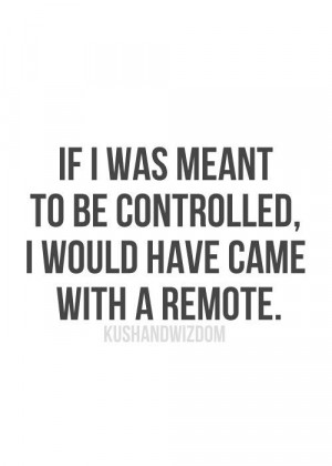 Dont be a control freak